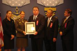 The United States Department of Defense Awarded The Young Marines youth organizations Drug Demand Reduction Program the 2012 Annual Fulcrum Shield Award for Excellence in Youth Anti-Drug Programs
